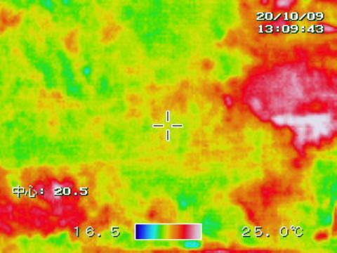 熱赤外線カメラの撮影画像